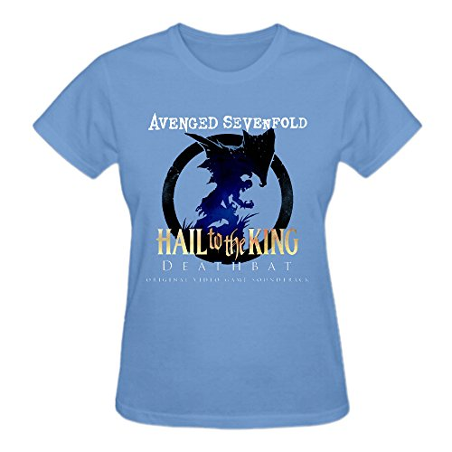 Avenged Sevenfold Hail To The King Deathbat T Shirts For Women Blue