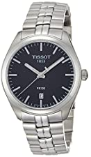 Tissot Men's 'PR 100' Swiss Quartz Stainless Steel Casual Watch, Color:Silver-Toned (Model: T1014101105100)