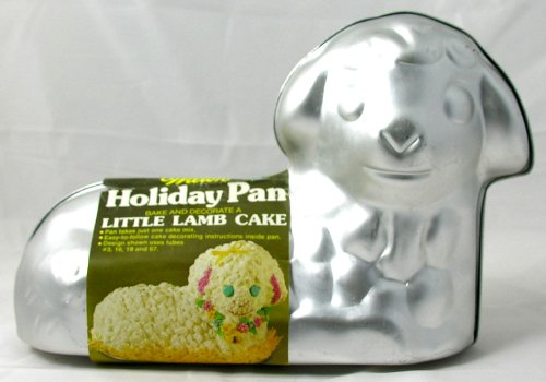 Wilton Holiday Pan Little Lamb Cake Stand Up 3-D #502-2014 Vintage 1976