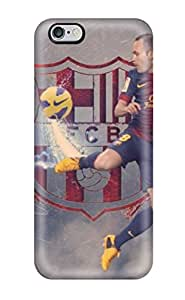 Fashion Tpu Case For Iphone 6 Plus- Andres Iniesta Barcelona Defender Case Cover