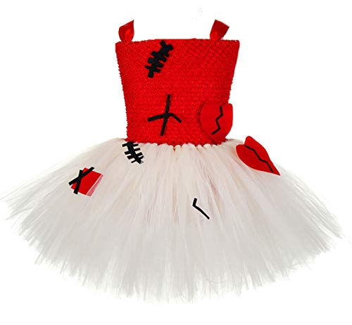 (Tutu Dreams Halloween Costumes for Girls Voodoo Doll Zombie Devil Patch Scary Dress (XX-Large, Voodoo)