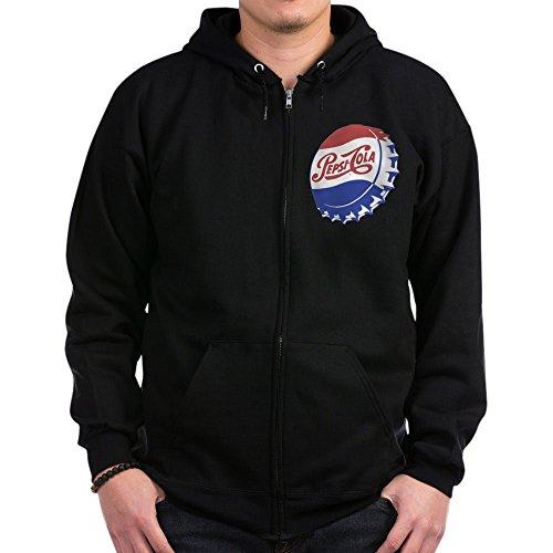 (CafePress - Pepsi Bottle Cap Sweatshirt - Zip Hoodie, Classic Hooded Sweatshirt with Metal Zipper)