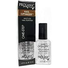 Prolana Nail Optimizer One-Step Multi Use Nail Fortifier, Nail Hardener, Nail Strengthener - Optium Strength Nail Treatment .5 ounces/15 milliliters