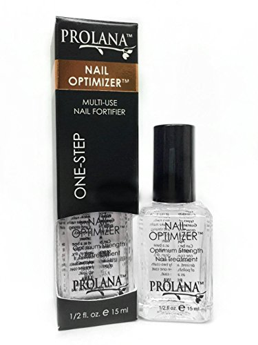 Prolana Nail Optimizer One-Step Multi Use Nail Fortifier, Nail Hardener, Nail Strengthener - Optium Strength Nail Treatment .5 ounces/ 15 milliliters - Nail Treatment Strengthener