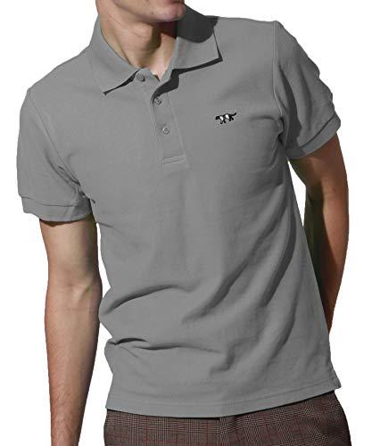 J.STORE (ジェイストア) ポロシャツ メンズ 半袖 Vネック シンプル ワンポイント 刺繍 おしゃれ スポーツ
