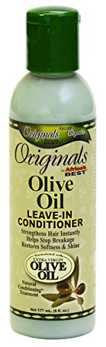 Africas Best Conditioner Originals Olive Oil Leave-In 6 Ounce (177ml) (3 Pack) (Africas Best Organics Olive Oil Leave In Conditioner)