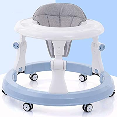 Baby Walker Anti-o-Leg Male Baby Multi-Function Start Anti-Rollover Hand Push Children Can Sit for 6-18 Months Boy and Girl Blue : Baby