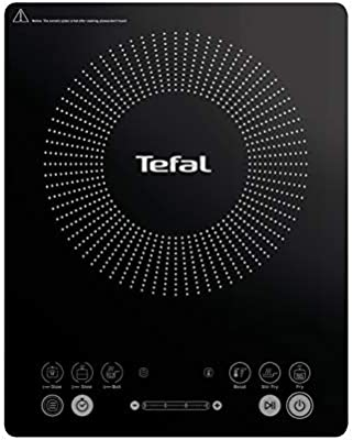 Tefal Everyday Slim - Placa de inducción portatil, 6 modos automáticos, 1 control manual, 240 C, hasta 2100 W, color negro