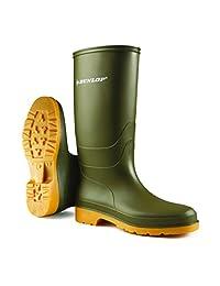 Dunlop Kids Unisex 16247 DULLS Rain Welly/Wellington Boots (3 US) (Green)