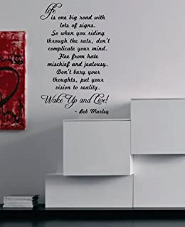 Wall Mural Decal Sticker   Life Is One Big Road Quote   Bob Marley Part 31