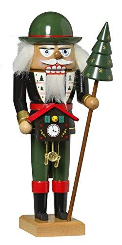 KWO Black Forest Clock Salesman German Wood Christmas Nutcracker Made in Germany (German Kwo Nutcracker)
