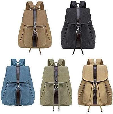 Mochila de lona vintage unisex, casual, para senderismo, viajes, al aire libre, mochilas para mujeres, niñas, mochilas de escuela, mochilas para hombre, ...