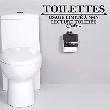Kuamai Un WC Français Stickers Muraux Citations Limite Lu0027Utilisation Du0027une  Salle De