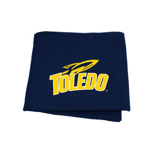 CollegeFanGear Toledo Navy Sweatshirt Blanket 'Official Logo' by CollegeFanGear