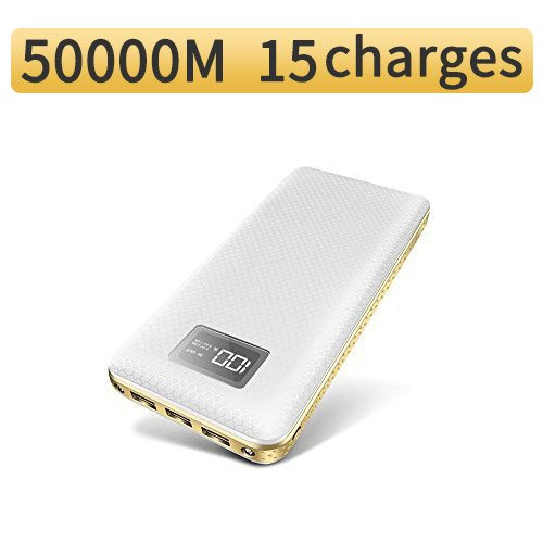 Jemma 20000mAh Powercore Portable Charger High Capacity Power Bank for iPhone, iPad & Samsung Galaxy & More (White)
