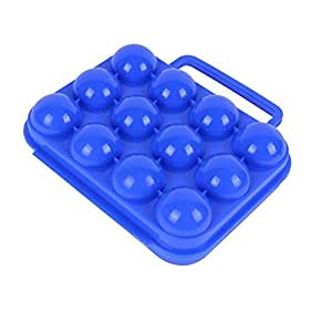 FTXJ Barbecue Equipped Plastic Carry Outdoor Egg Box Storage Box (Blue)