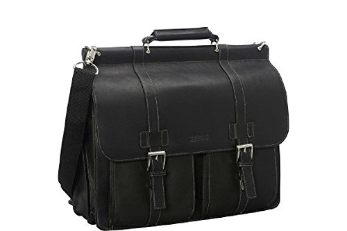 Kenneth Cole Reaction Columbian Leather Dowel Rod Computer Briefcase