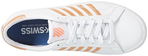 So Ginnastica Papaya Scarpe White da Basse Metallic K SwissBelmont Donna Punch Bianco 5gqCxqwR