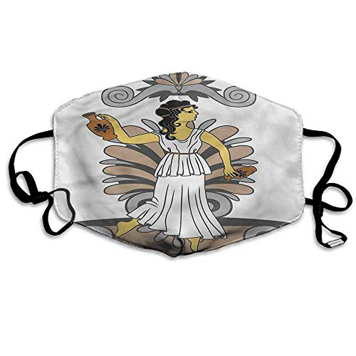 Toga Party Dust Mouth Mask Woman with Amphora for Men and Women W4