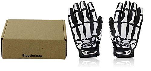 BicycleStore® Men Women Slip-Resistant Bone Skeleton Racing Riding Cycling Full Finger Gloves Bicycle Bike Sports Skull Glove Plus Size M L XL (L) - Skull Gloves