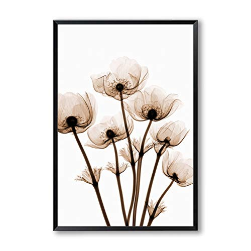 Be fearless Transparent Tulip Flower A4 A3 A2 Canvas, used for sale  Delivered anywhere in USA