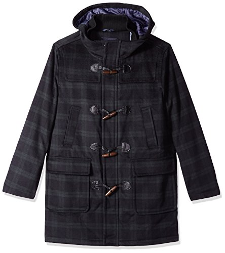 Tommy Hilfiger Men's Barry 36 Inch Toggle Coat, Black Watch Plaid, 42R