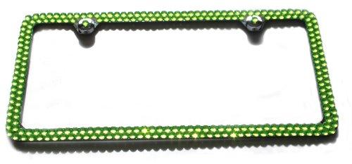 bling license plate frame green - 7