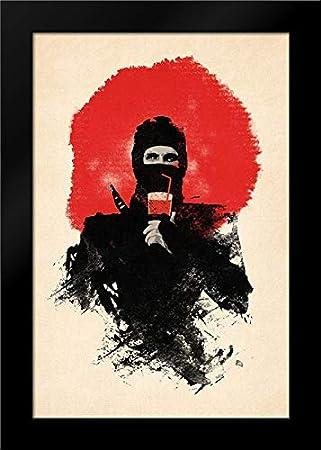 Amazon.com: American Ninja 17x24 Framed Art Print by Farkas ...
