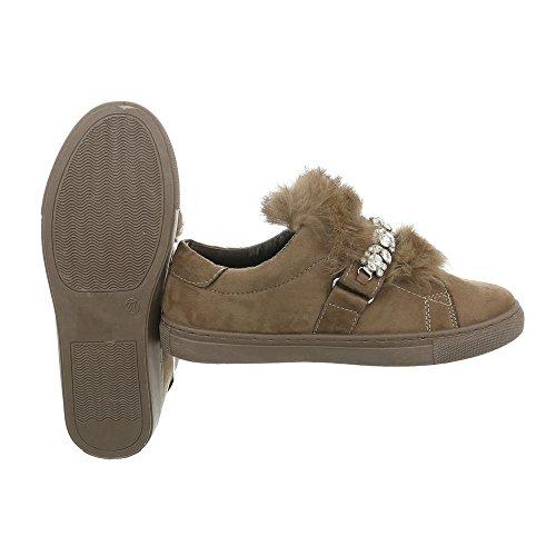 Zapatillas Zapatos 7924 Plano Ital bajas para Zapatillas Olive Design mujer xIIqCp7