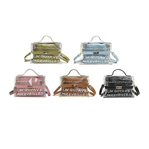 Simple Party Mujeres Estilo Las Bolso Bolso Bolsas Bolso PVC Bolso Transparente Travel Dating de Moda de de Popular Hombro Crossbody Para de Elegantes ORyagcqnYZ
