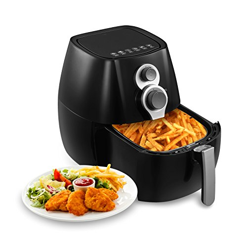 KUPPET 4.76QT Oilless Air Fryer with Cookbook-8-IN-1 Hot/Deep Fryer with Basket-Rapid Air Technology For Less or No Oil-Timer Temperature Dual Control -Included 6 Cooking Presets -