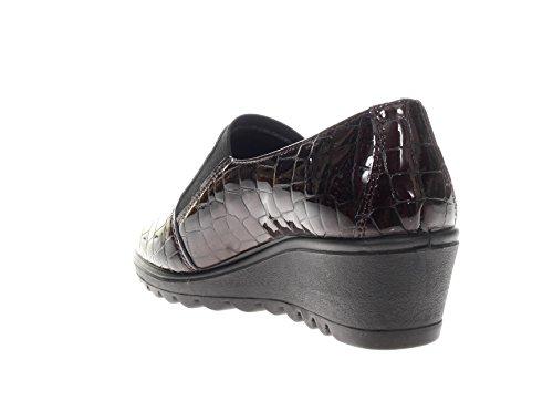 SOFT 89922 zapatos cuña bailarina de ENVAL Burdeos 00 mujer dxRXwd5f