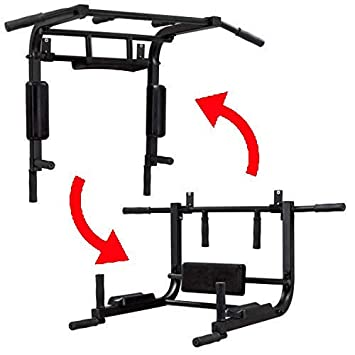 BK BenchK multifunción Configuración para Montaje en Pared Barra Dominada para Pull Chin Dip y Sit Up, Black, L: Amazon.es: Deportes y aire libre