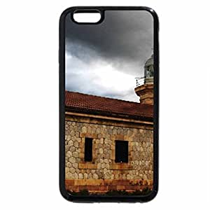 iPhone 6S Plus Case, iPhone 6 Plus Case, old stone lighthouse in a storm