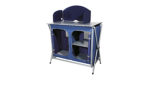 Ferrino Quick Kitchen Plus Mueble de Cocina Plegable de Camping, Azul