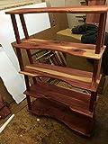 Modern style bookshelf, curved front bookcase, cedar bookshelf, rustic furniture, cabin style furniture, display unit, kids bookshelf, children bookshelf