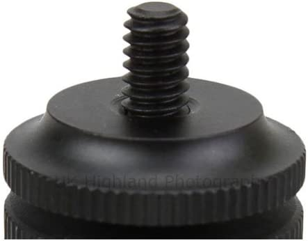 JJC MSA-11 Dual Nuts Hot Shoe Screw Adapter with 1//4 Thread