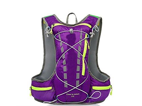 OVIIVO Bike 10L Hydration Bladder Backpack Adjustable Tactical Water Backpack with Water Bladder for Biking Cycling Travel Hiking (Purple) by OVIIVO