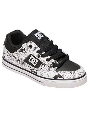 DC SHOES YOUTH PURE X AT BLACK WHITE PRINT FW 2017-usk 2 eur 33 cm 21