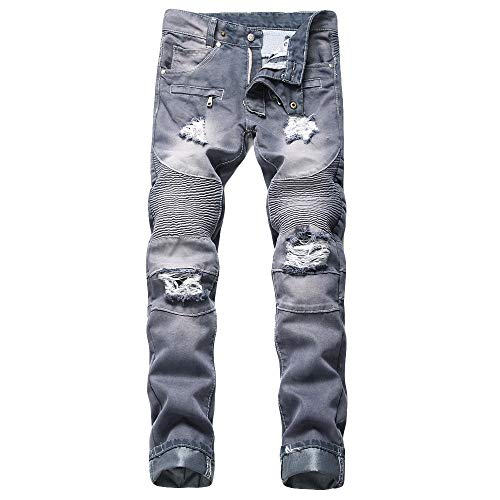 - NUWFOR Men's Fashion New Printed Individual Jeans Making Old Printed Trousers Pant(Black,US:40/AS:XXXXXXXXL Waist?41.9
