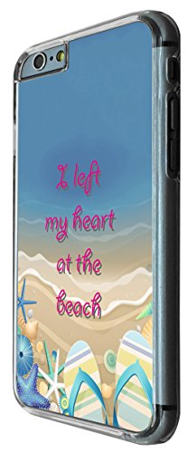 612 - Sandy Beach Starfish i left my heart at the beach Design iphone 6 PLUS / iphone 6 PLUS S 5.5'' Coque Fashion Trend Case Coque Protection Cover plastique et métal