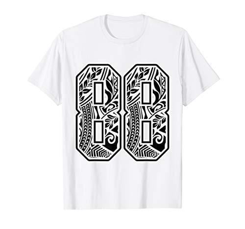 #88 Polynesian Tattoo Number 88 Sports Fan T-Shirt -