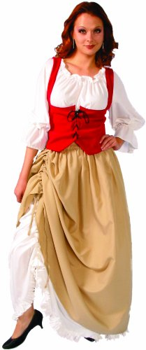 Tavern Maiden Costume (Alexanders Costumes Tavern Maiden, Brown, Large)