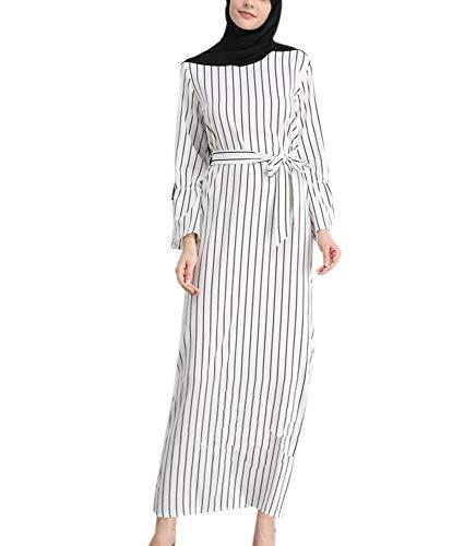 Worclub Ropa de Mujer Musulmana Desgaste Vestido de lissome Blanco