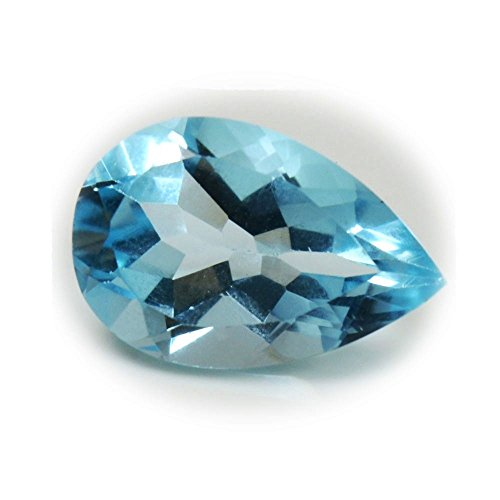 Gemsonclick Natural Genuine Blue Topaz Loose Gemstone 3.5 Carat Pear Cut December Birthstone (3.5 Pear Ct Stone)