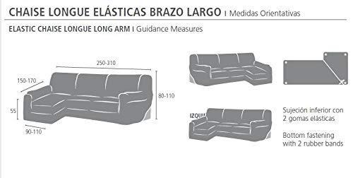 Eysa Ulises - Funda de Chaise Longue Derecha elástica, Color Crudo