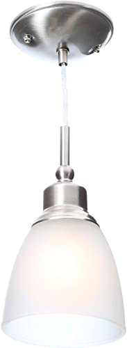 Commercial Electric 1-Light Brushed Nickel Mini-Pendant 3-Pack