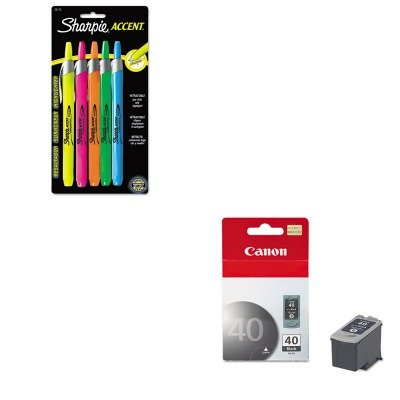 KITCNMPG40SAN28175PP - Value Kit - Canon PG40 PG-40 Ink Tank (CNMPG40) and Sharpie Retractable Highlighters ()