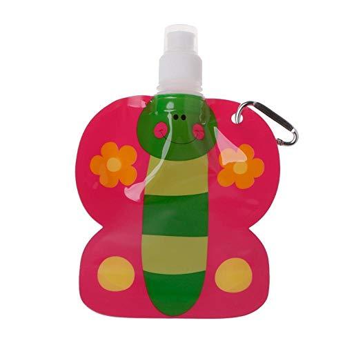 Bolso de alimentación de agua de bebé de dibujos animados plegable amistoso 360ml Eco tazas, botella de bebida de viaje…