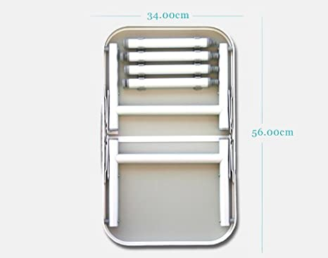 Forma Marine tubi da /ø 20 mm altezza 23 // 45 cm piano dappoggio 34 x 56 cm colore: Bianco  PA226 in alluminio anodizzato Tavolino da campeggio Mini-Maxi
